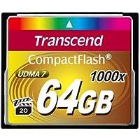 Transcend Ultimate CompactFlash 64GB Speicherkarte (1000x , 160MB/s Lesen (max.), Quad-Channel, VPG-20 Video Performance)