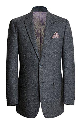 Trory Ireland Herren Tweed Blazer - Dunkles Grau (38R) -