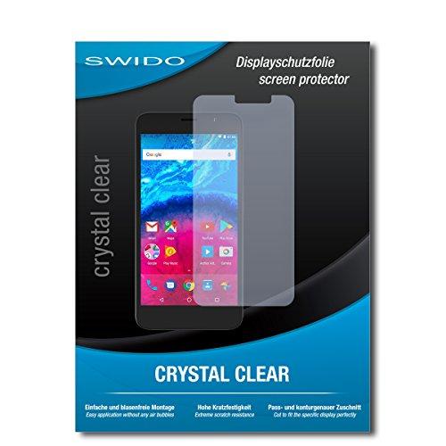 SWIDO Bildschirmschutzfolie für Archos Core 55 [3 Stück] Kristall-Klar, Extrem Kratzfest, Schutz vor Öl, Staub & Kratzer/Glasfolie, Bildschirmschutz, Schutzfolie, Panzerfolie