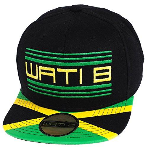 Wati b - Cappellino colorato con visiera e bandiera giamaicana, taglia unica