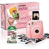 Fujifilm - Instax Mini 8 - Appareil photo à Impression Instantanée avec Pack 20 films - Rose