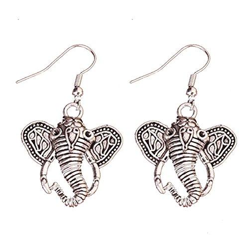 Nikgic 1 par de Pendientes de Gancho con Diseño de Elefante de...