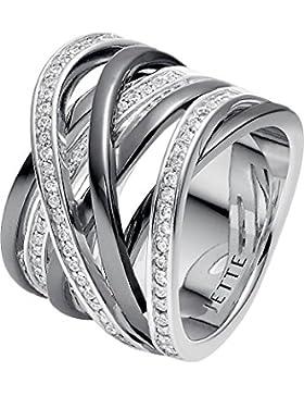 JETTE Silver Damen-Ring RIVER 925er Silber 79 Zirkonia (silber)