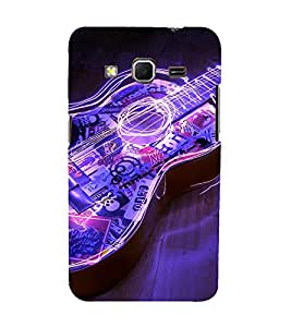 Bluethroat electric image of a guitar Back Case Cover for Samsung Galaxy Core Prime :: Samsung Galaxy Core Prime G360 :: Samsung Galaxy Core Prime Value Edition G361 :: Samsung Galaxy Win 2 Duos Tv G360Bt :: Samsung Galaxy Core Prime Duos