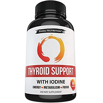 Thyroid Support Complex With Iodine to Improve Energy & Help Lose Weight - Natural Supplement to Increase Concentration, Boost Metabolism & Reduce Brain Fog - 'Feel Like Your Old Self Again'