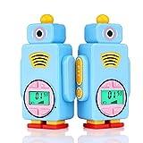 Retevis RT36 Walkie Talkie Bambini Ricaricabili Ricetrasmittenti Bambini 8 Canali PMR446 Licenza-Libero VOX 7 Colori LCD (Blu)
