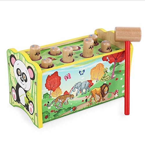 Holz Hamster Große Kinder 'S KNOCKING Ball Cricket Puzzle Kid Spielzeug Kinder Spielzeug weiß