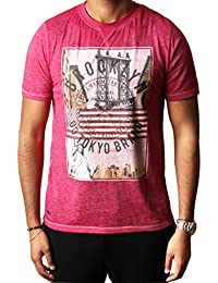Tokyo Laundry Mens Auburn Point Graphic T Shirt