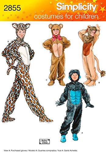Simplicity Muster 2855Kind, Junge und Mädchen Kostüme, Gr. XS, S, M, ()