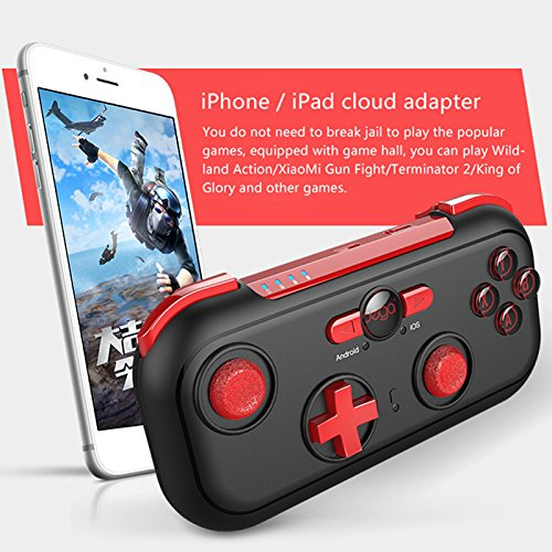Amyove Wireless Bluetooth Gamepad, Game-Controller für Android/iOS/Switch/Win Joystick Griffe Hori Wireless