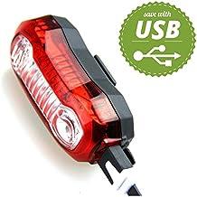 Sunspeed Luz Trasera Bicicleta Con USB Recargable Ultra Brillante 5 Modos de Iluminación Para Bici Ciclismo