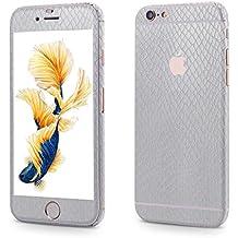 OKCS Glamoures Sticker für Apple iPhone 6, 6s Skin Handyfolie Carbon - Stormy Silver