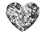 2 x SWAROVSKI Nail Art OVERLAYS Crystal Heart crystal black patina 6.0 x 14.0mm