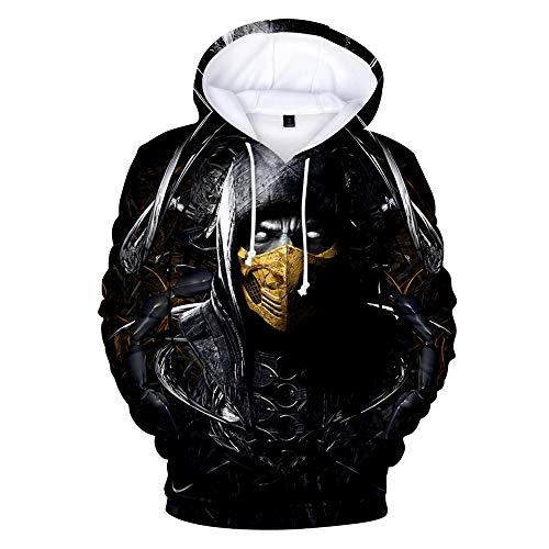 WUDUHUI 3D-Pullover Mortal Kombat 11 Kapuzenjacke einfach lässig Herren- und Damenmodelle 3D-Digitaldruck Freizeit Unisex