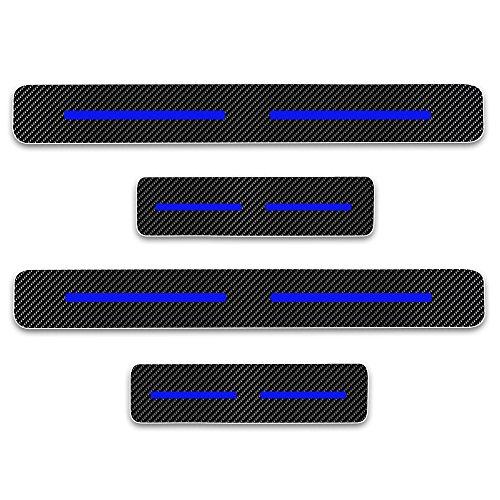 Einstiegsleiste Schutz Aufkleber Reflektierende Lackschutzfolie für Mazda2 Mazda3 Mazda6 CX-3 CX-5 CX-9 MX-5 Einstiegsleisten Blau 4 Stück