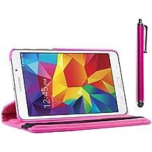 ebestStar - para Samsung Galaxy Tab 4 7.0 SM-T230, T231 T235 [: 186.9 x 107.9 x 9 mm, pantalla 7''] - Estuche Carcasa Funda PU cuero 360° rotativa + Estilete táctil, Color Rosa