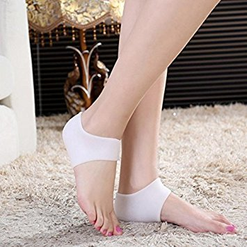 Vmoni Silicone Gel Heel Protector - Plantar facility Soft Socks for Hard, Cracked, Dry Skin- One Pair- Moisturizing protector