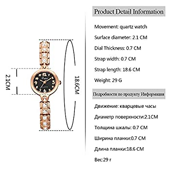 Womens Quartz Watches,ulanda-eu Lvpai Analog Clearance Lady Wrist Watch Female Watches On Sale Watches For Women,round Dial Case Comfortable Stainless Steel Wristwatch M77 (Gold & Black) 1