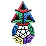 Roxenda Speed Cube Set, Cubo Mágico Puzzle Pack - 2x2x2 3x3x3 Cube,...