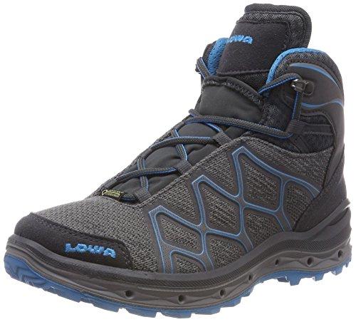 Lowa Aerox GTX Mid WS, Chaussures de Randonnée Hautes Femme, Blu/Verde Menta