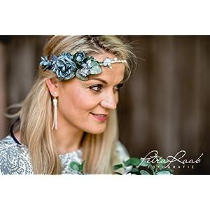 Brauthaarband Blumenkranz Blüten Diadem Braut Frisur Hochzeit Boho C11