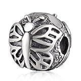 soulbead Florfliegen Schmetterling Charm echtes 925Sterling Silber Clip Perle für europäische Kompatible Marke Armband
