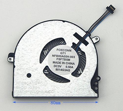 WishingDeals CPU Lüfter für HP Pavilion 15-cc 15-cc000 15-cc100 15-cc500 15-cc600 15-cc700 Serie