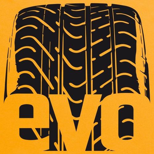 evo Tyre Treads T-Shirt, Herren Gelb