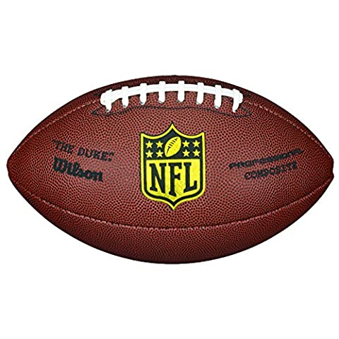 Wilson American Football, Recreational Use, Standard Size, NFL DUKE REPLICA, Brown, WTF1825XB