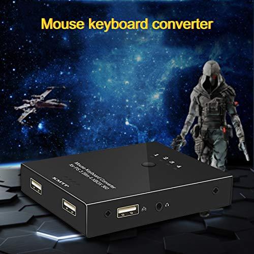 - Tastatur-maus-konverter (Cutogain Konverter, Adapter, kompatibel, Schwarz, für PS3, PS4, Xbox Xbox, Maus-Tastatur-Konverter, Spiel-Adapter für PS3 für PS4 für Xbox)