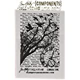 Tim Holtz Cling Rubber Stamp-Time