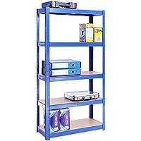 150cm x 75cm x 30cm, Blue 5 Tier (175KG Per Shelf), 875KG Capacity Garage Shed Storage Shelving Units, 5 Year Warranty - ukpricecomparsion.eu