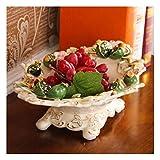 Nwn European Fruit Piatto di Ceramica Soggiorno Grande Piatto di Frutta della Famiglia Coffee Table Decoration Candy Bacino Decoration