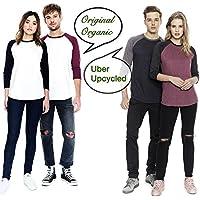 Camisetas CAMISETA de béisbol para mujer | Jersey raglán 3/4Manga Larga | algodón orgánico