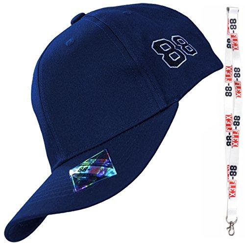 88-FLEX - Cappello Baseball Uomo Donna + Portachiavi Regalo ! Fitted Stretch Per Una Vestibilità Perfetta Sulla Testa - Cotone Di Alta Qualità - Stile Classico Vitage E Il Massimo Comfort - Blu