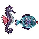 Seepferdchen 6X10cm Fisch 8X6cm Aufbügler Aufnäher Bügelbild Bügelmotiv Stoff Kleid Patch Applikation Aufbügeln Personalisieren Kind