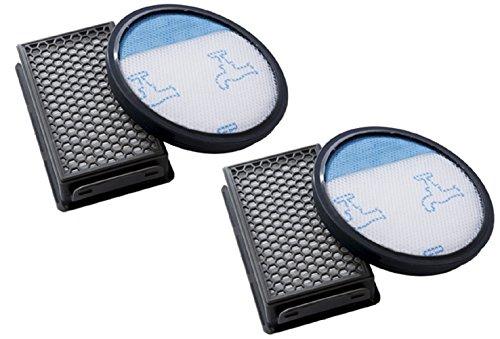 Empaque de 2. Kit de Filtro de Espuma y Filtro HEPA para las aspiradoras Rowenta / Tefal / Moulinex de la serie Compact Power Cyclonic. Reemplaza a ZR005901. Producto genuino de Green Label