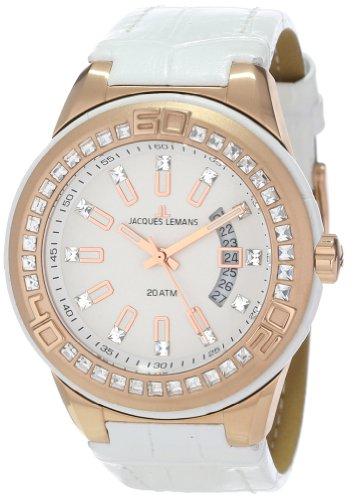 Jacques Lemans Unisex-Armbanduhr Miami Analog Quarz Leder 1-1776F