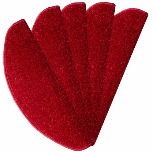 Stufenmatte Lyon rot 24 cm x 65 cm - 15 Stück