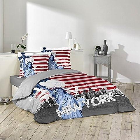 Housse de couette NEW-YORK LIBERTE 240X220 cm