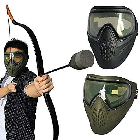 toparchery Archery CS Field Games Full Face Mask Safety Protect Airsoft Paintball Tactical Training