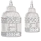 Best Whole House Worlds Bird Houses - The Cape Cod Chic White Birdcages, Set of Review