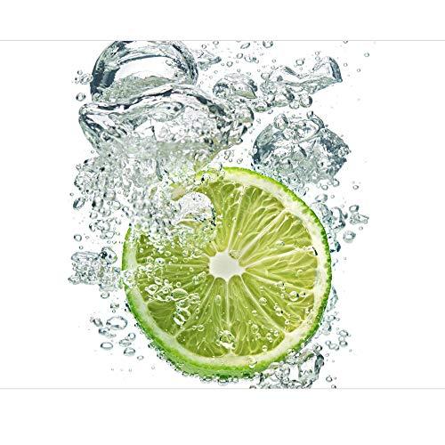 Apalis Lime Bubbles Vliestapete, Größe: 288cm x 288cm