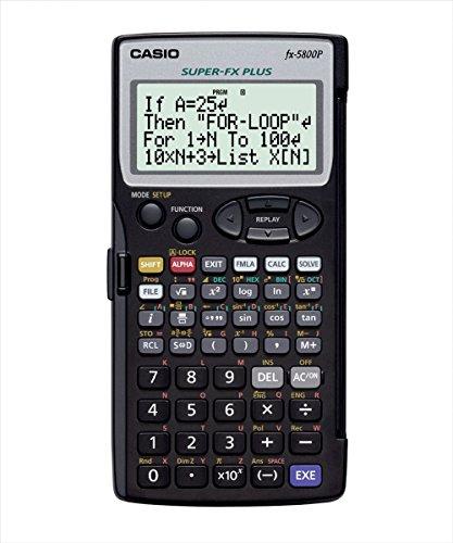 CASIO FX-5800P programmierbarer technisch-wissenschaftlicher Rechner, 4-zeilige Anzeige