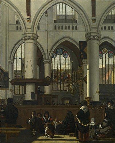 Das Museum Outlet–Emanuel De Witte–Das Innere der Oude Kerk, Amsterdam, gespannte Leinwand Galerie verpackt. 29,7x 41,9cm