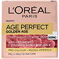 L'Oréal Paris Age Perfect Golden Age Crema Viso Antirughe Fortificante Giorno, Pelli Mature, 50 ml