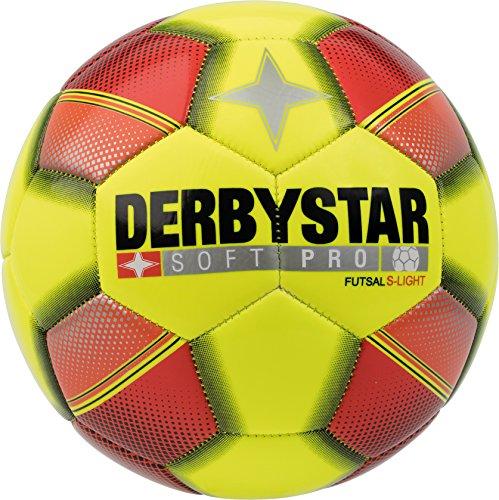 Derbystar Kinder Futsal Soft Pro S-Light, gelb rot schwarz, 4