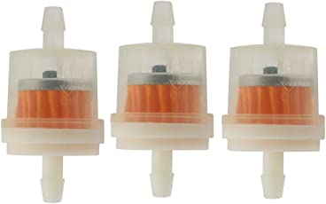 Futaba Motorcycle Gas Fuel Filter - Pack of Three