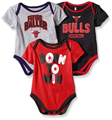 df84b3034fb7 NBA by Outerstuff NBA Newborn   Infant Chicago Bulls Little Fan 3pc  Bodysuit Set
