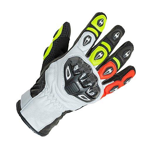Büse Airway Sport Handschuhe 8 (M) Schwarz/Weiß/Neon Gelb